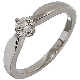 Bulgari Platinum and 0.30ct. Diamond Solitaire Ring Size 6