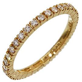 Bulgari 18K Yellow Gold Full Eternity Diamonds Ring Size 4