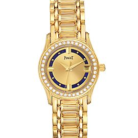 Piaget Polo Yelow Gold Lapis Lazuri Dial Diamond Ladies Watch 22005