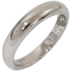 Van Cleef & Arpels Platinum Band Ring Size 6.5