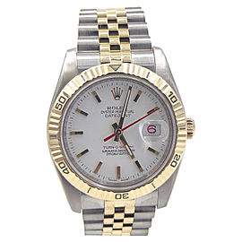 Rolex Datejust Turn O Graph 16263 36mm Mens Watch