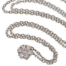 Vecchio 18K White Gold Diamond Necklace