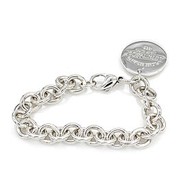 Tiffany & Co Return to Tiffany Round Tag Bracelet in Sterling Silver | JH