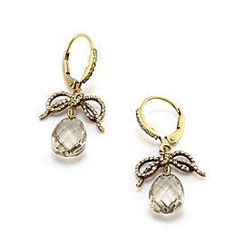 Barry Kronen Rock Candy Diamond and Quartz Briolette Earrings in 18KY Gold