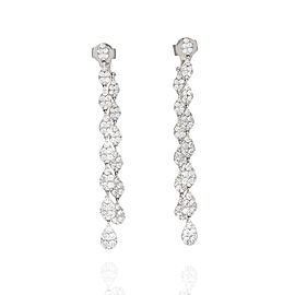Exquisite Pave Diamond Earrings in 18k white Gold