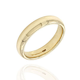 Tiffany & Co. 18K Yellow Gold Classic Wedding Band Ring Size 8