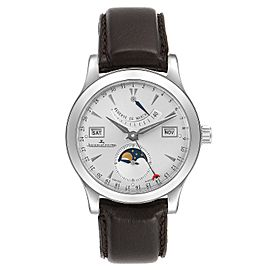 Jaeger Lecoultre Master Calendar Moonphase Mens Watch 147.8.41.S Box Papers