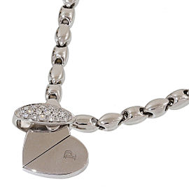 Piaget 18K White Gold & Diamonds Deformation Heart Motif Pendant Necklace