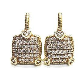 Judith Ripka 18K Yellow Gold Diamond Earrings