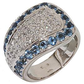 Zoccai 18K White Gold Diamond Ring Size 6.25