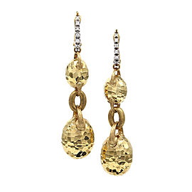 Nanis Endless Glitter Diamond Earrings Featured in 18 Karat Yellow Gold
