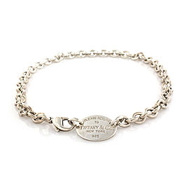 Tiffany & Co. Return to Tiffany 925 Sterling Silver Oval Tag Necklace