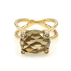 Nanis Bon Bon Citrine & Diamond Ring Featured in 18K Yellow Gold