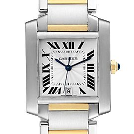 Cartier Tank Francaise Steel Yellow Gold Large Unisex Watch