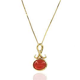 H. Stern Rhodochrosite & Diamond Necklace in 18K Yellow Gold| JH