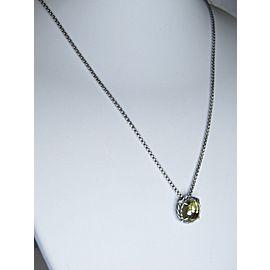 David Yurman Chatelaine Sterling Silver Citrine Pendant Necklace