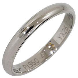 Cartier Platinum Wedding Ring Size 4.25