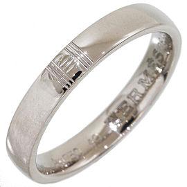 Hermès 18K White Gold Ring Size 5