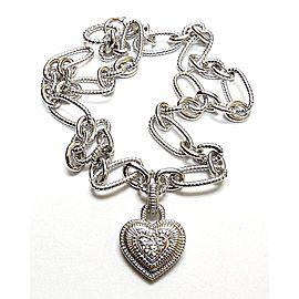 Judith Ripka Sterling Silver White Topaz Necklace