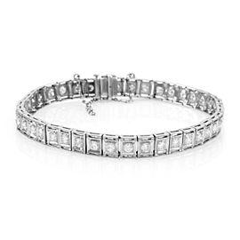 Vintage Diamond Tennis Bracelet w/ Milgrain in Platinum | FJ