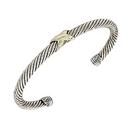 David Yurman Double 14K Yellow Gold, Sterling Silver Bracelet