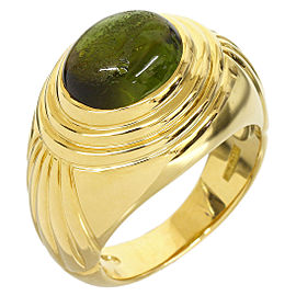 Boucheron 18K Yellow Gold Tourmaline Ring Size 6.25