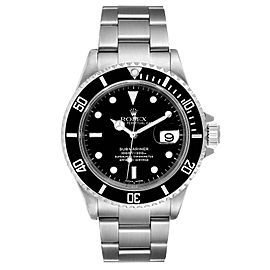 Rolex Submariner Black Dial Stainless Steel Mens Watch 16610 Box