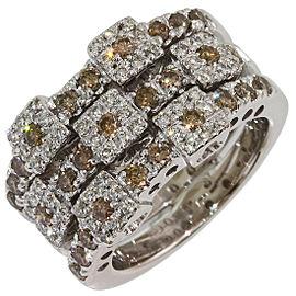 Vecchio 18K White Gold Diamond Ring Size 5