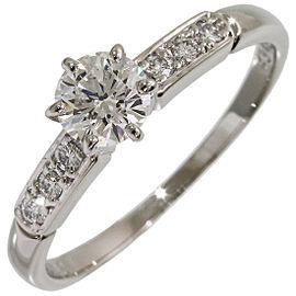 Mikimoto Platinum Diamond Ring Size 6.25