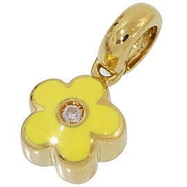 Pasquale Bruni 18K Yellow Gold Enamel Diamond Pendant