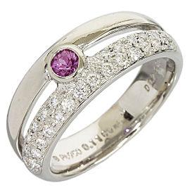 Mikimoto Platinum Diamond, Sapphire Ring Size 5