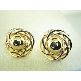 Omega 14K Yellow Gold Earrings