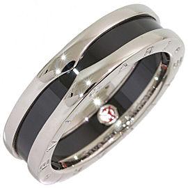 Bvlgari Sterling Silver Ceramic Ring Size 10.25
