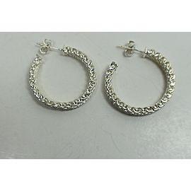 Tiffany & Co. Wide Mesh Somerset Sterling Silver Earrings