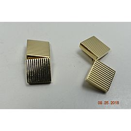 Tiffany & Co. 14K Yellow Gold Square Ribbed Cufflinks
