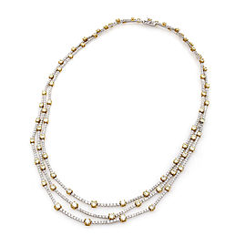 14.80ctw Gregg Ruth Yellow and White Diamond Necklace in 18KYW Gold