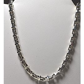 Tiffany & Co. T Square Link Sterling Silver Necklace
