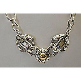 Kieselstein-cord Frog 14K Gold & Sterling Silver Necklace
