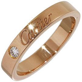 Cartier 18K Rose Gold Diamond Wedding Ring Size 4