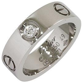 Cartier Love Ring Platinum Diamond Size 5.25