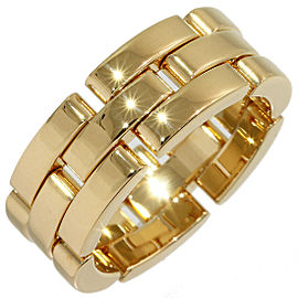 Cartier Mailon Panthere 18K Yellow Gold Ring Size 6.75