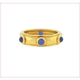 Tiffany & Co. Etoile 18K Yellow Gold Sapphire Wedding Ring Size 5.5