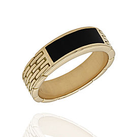 18K Yellow Gold Onyx Ring Size 11.5