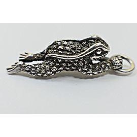 Barry Kieselstein Cord Frog Sterling Silver Pendant