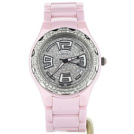 ELINI PINK CERAMIC WITH DIAMOND BEZEL