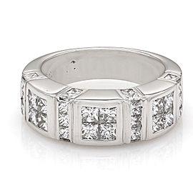 18K White Gold Diamond Ring Size 6.5