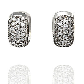 Diamond Huggie Earrings in Gold | FJ-B