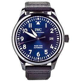 IWC Pilot Mark XVIII Laureus Sport Ceramic Blue Dial Full Set 40mm ref: Iw32470
