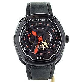 Dietrich OT-2 Watch Black case Black calf strap