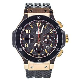 Hublot Big Bang Gold Ceramic Black 18k Gold/Rubber 44mm 301.PB.131.RX